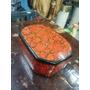 Cofre Hindu Antiguo En Madera Y Oleo Lacado De Flores