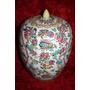 Florero Porcelana Chino Asiatico Antiguo