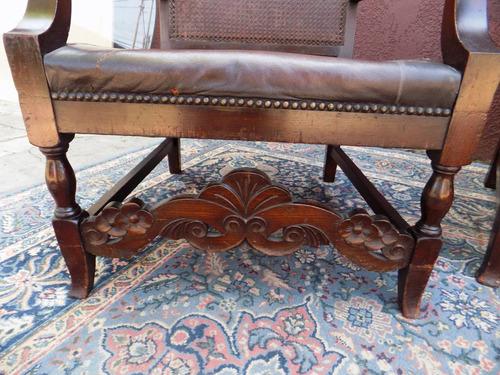 antiguedades venecia_ divino juego de sillones coloniales