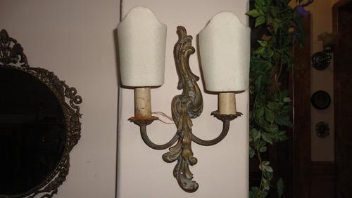 antiguissima  arandela rococo' em bronze frete gratis! jpgyn