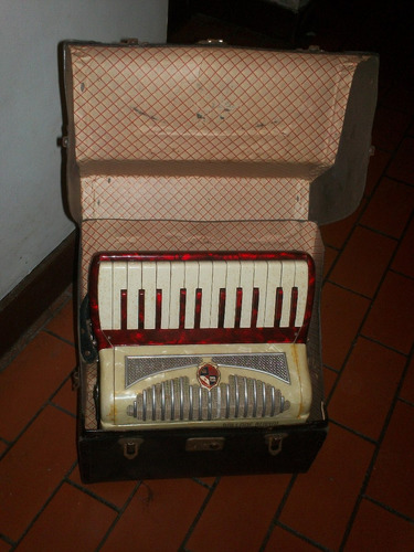 antiguo acordeón ballone burini castelfidardo original