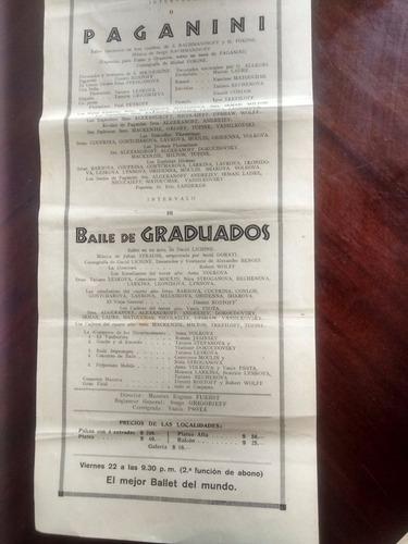 antiguo afiche del teatro municipal  viña del mar 1943 (a11