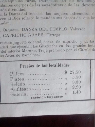 antiguo afiche del teatro novedades - tortola valencia