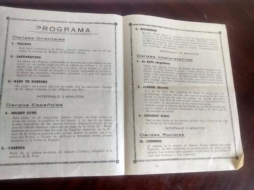antiguo afiche del teatro real  -de santiago 1938 (a9