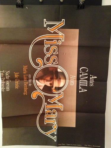 antiguo - afiche - poster - cine - coleccion - miss mary
