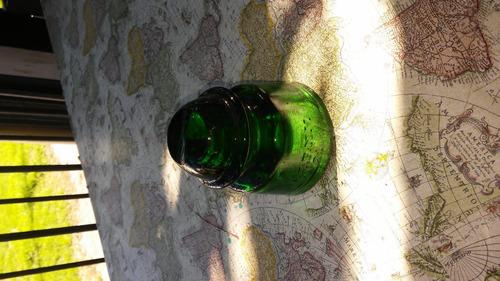 antiguo aislante de vidrio ideal adorno pisapapeles
