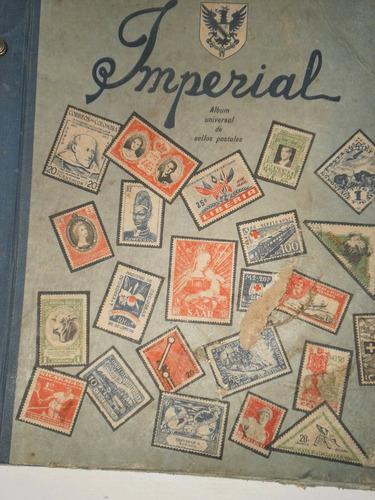 antiguo album de estampillas imperial