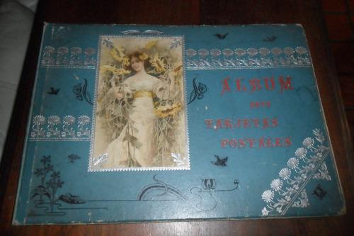 antiguo album tarjetas postales tarjeta postal