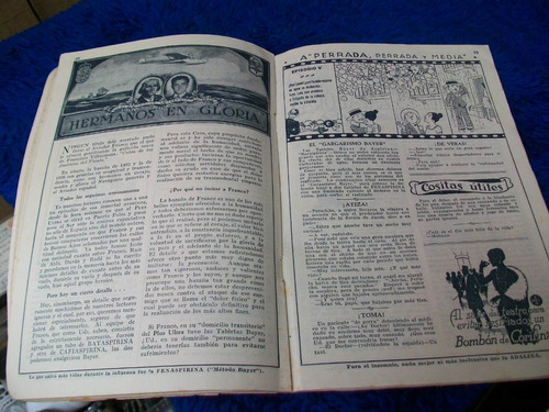 antiguo almanaque bayer con todas sus páginas 1.927