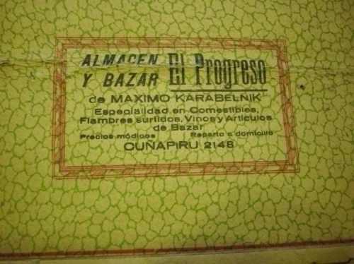antiguo almanaque del año 1950 almacen y bar el progreso.
