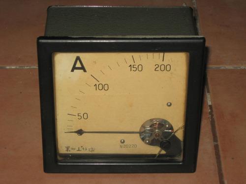 antiguo amperimetro analogico#50