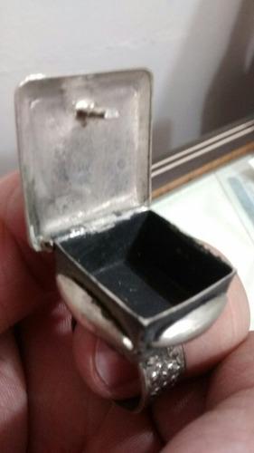 antiguo anillo francés para rapé no plata!