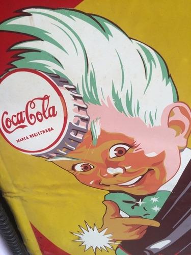 antiguo anuncio publicidad letrero coca cola usa 194?