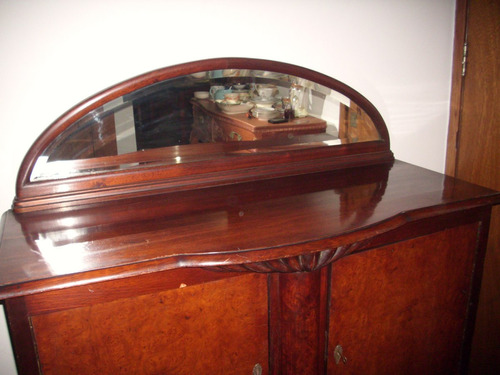 antiguo aparador reina ana con espejo medio punto
