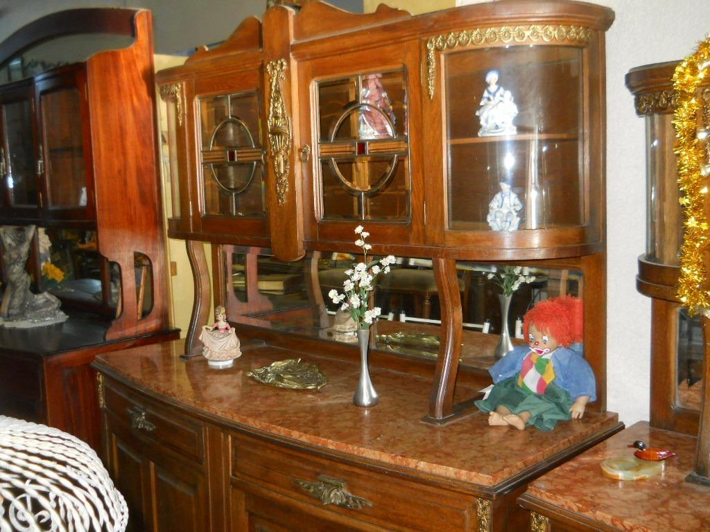 Aparador Trinchante Con Vidrio Vitro Muebles Antiguos En Mercado  # Muebles Renacentistas