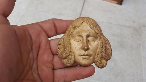 antiguo aplique cariatide cara en bronce macizo