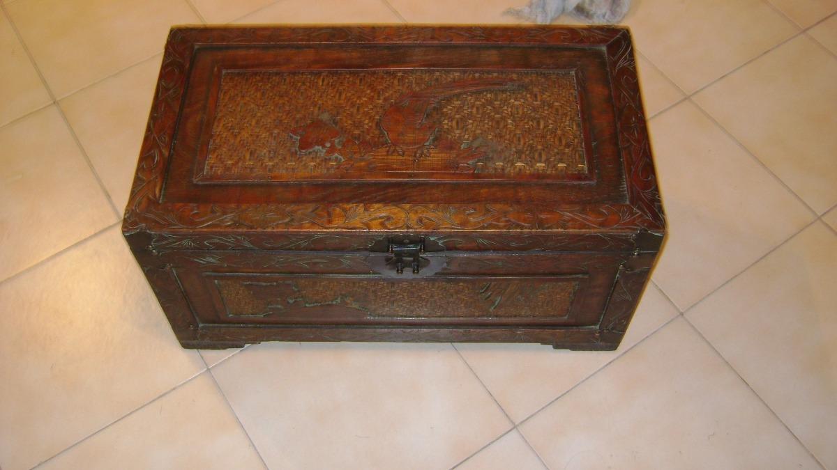 Antiguo Arcon O Baul O Cofre En Madera Traido De India 5 200  # Arcon Madera
