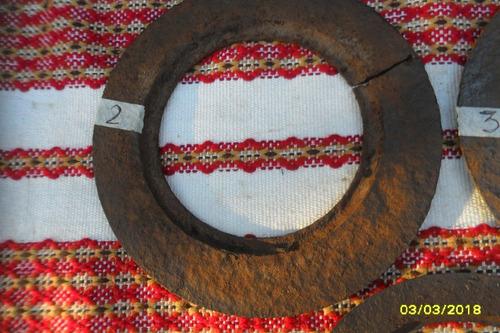antiguo aro de hornalla de cocina económica a leña $ c/u