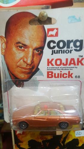 antiguo auto buick corgi de kojak- en blister original