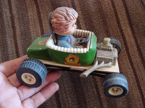 antiguo auto pierino gorgo d/ plástico y chapa juguete 15cm