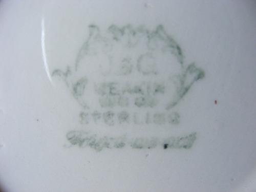 antiguo azucarero porcelana j & c meakin hecho en inglaterra