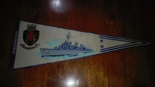 antiguo banderin cochrane armada de chile
