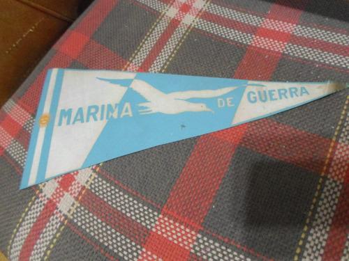 antiguo banderin en tela de la marina de guerra