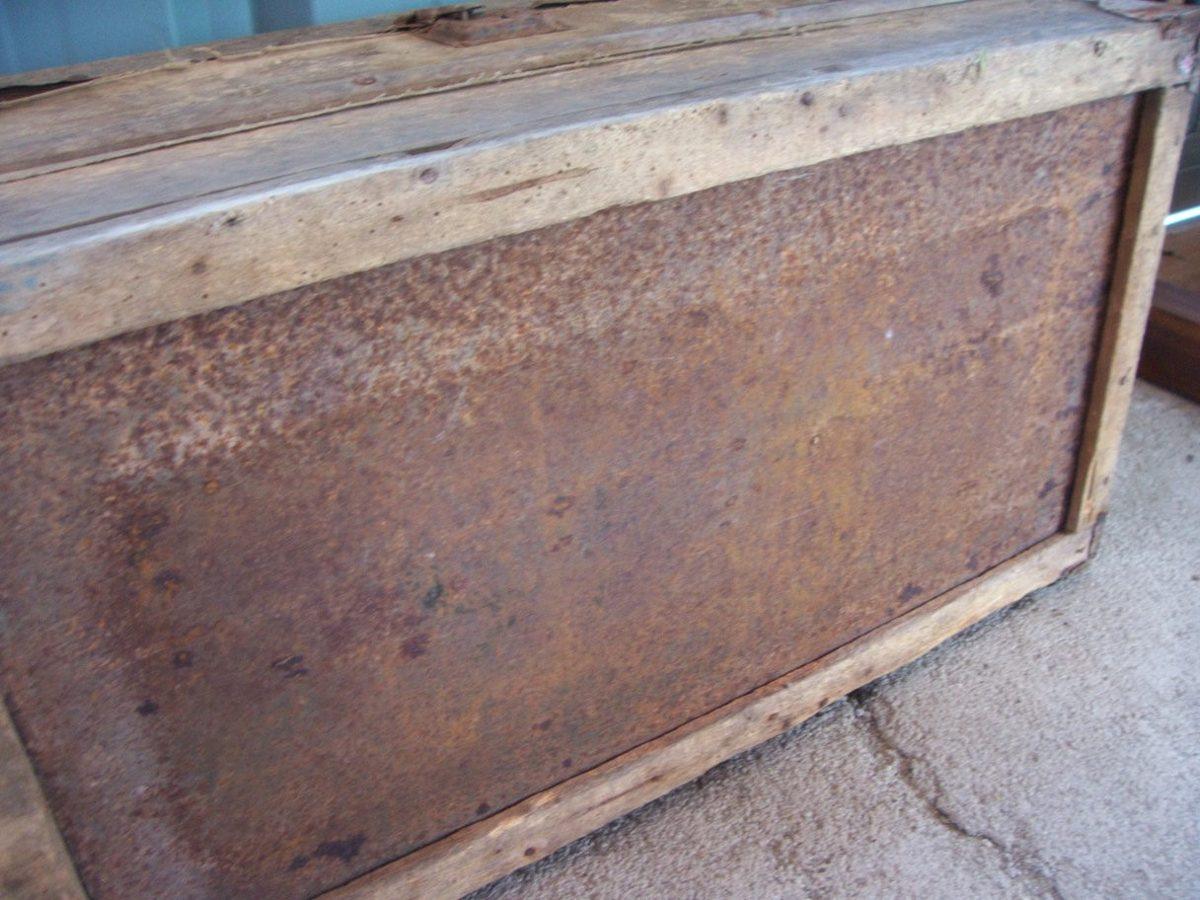 Antiguo Ba 250 L Arc 243 N De Madera Con Refuerzos De Chapa Metal