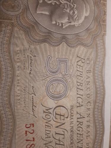 antiguo billete 50 centavos sin circular moneda nacional
