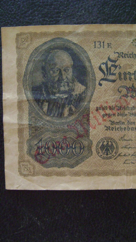 antiguo billete alemania 1000millones marcos 1922 serie 4.13
