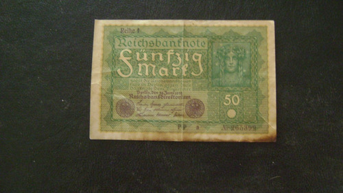 antiguo billete alemania 50 marcos año 1919  serie 4.11