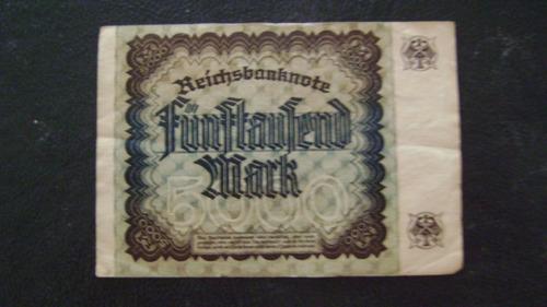 antiguo billete alemania 5000 marcos 1922 serie 4.15