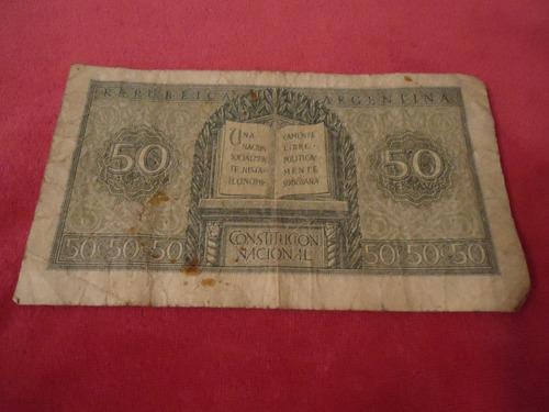 antiguo billete argentino de 50 centavo