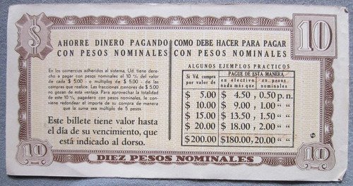 antiguo billete uruguay suder 10 pesos