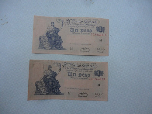 antiguo billetes moneda nacional correlativos