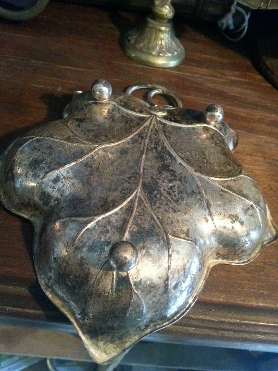 Antiguo botanero ba o de plata en mercado libre for Bano de plata precio