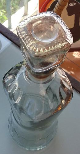 antiguo botellon vidrio vino-28,5x8,5-pompeya/v crespo