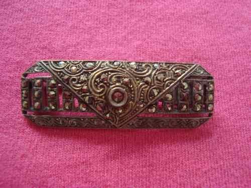 antiguo broche prendedor vintage en oro y plata envio gratis