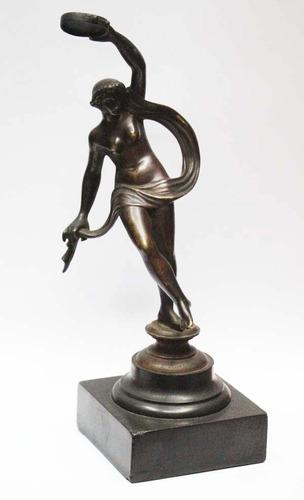 antiguo bronce danzarina griega  firma f duret 22 x 8 cm