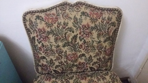 antiguo butacon silla retro estilo luis xv impecable  pluma