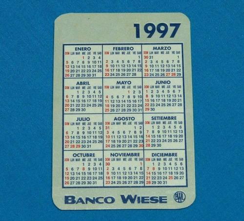 antiguo calendario de bolsillo luz del sur banco wiese 1997