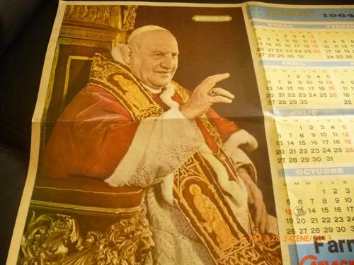 antiguo calendario papa juan 23  año 1964 (541w