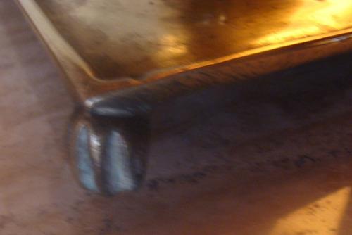 antiguo candelabro de bronce macizo base cuadrada