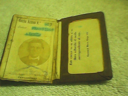 antiguo carnet fútbol linch no album