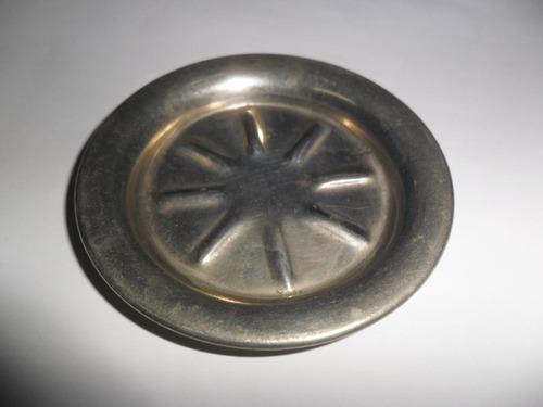antiguo carocero despojador posavaso plata braun