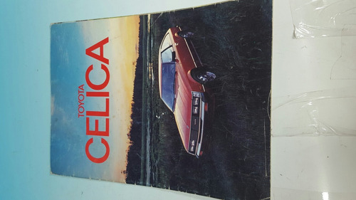 antiguo catalago original de venta automovil toyota celica