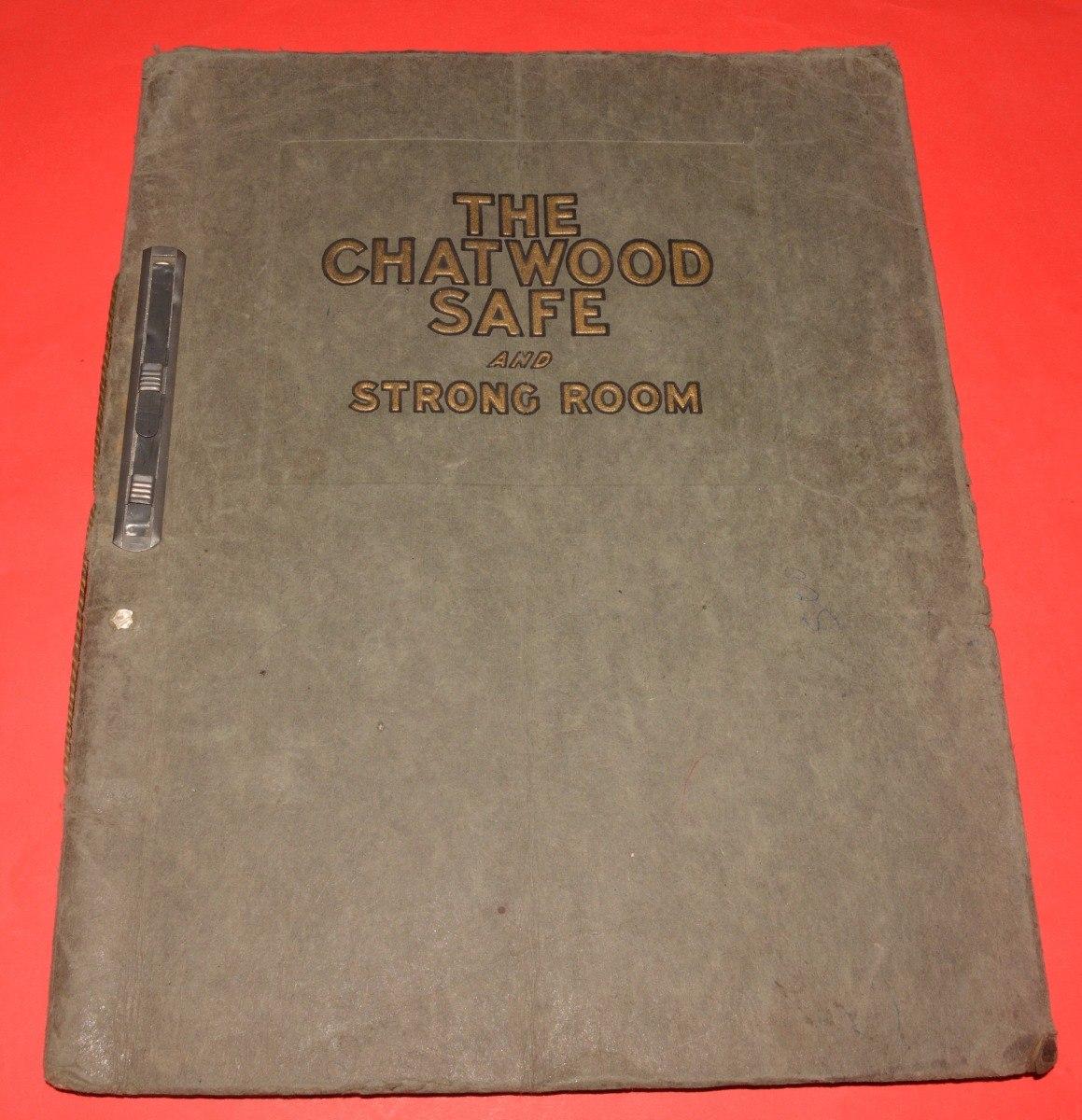 Antiguo Catalogo Caja Fuerte The Chatwood Safe - $ 700,00