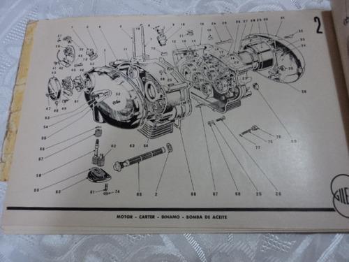 antiguo catalogo de repuesto gilera 150 200