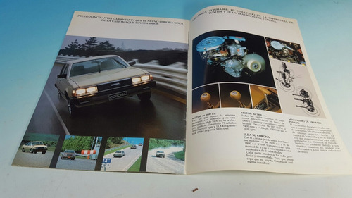 antiguo catalogo de venta  original automovil toyota corona