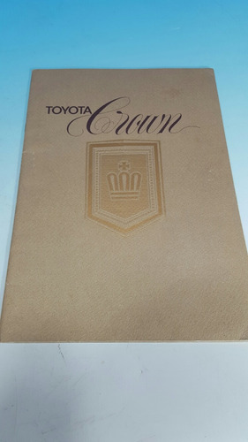 antiguo catalogo original de venta de automovil toyota crown